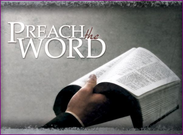 Capture Picture - Preach the Word - Preacher's hand holding Bible