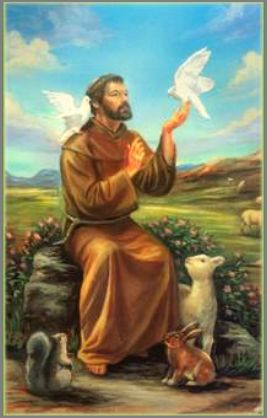 Capture Saint Francis pictured with animals